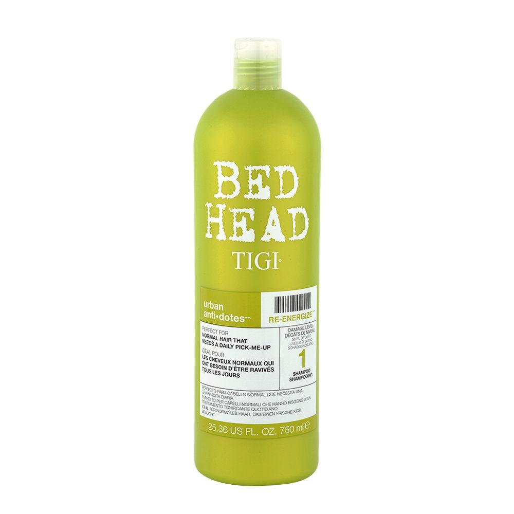 Tigi Urban Antidotes Re-Energize Shampoo 750ml - Champù de Reestructuración Nivel 1