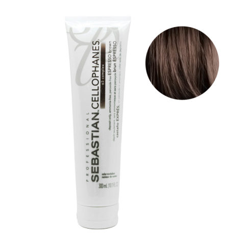 Sebastian Cellophanes Espresso Brown Mascarilla Reflectante 300ml