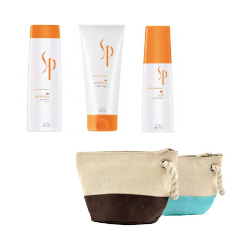 Wella System Professional After sun kit shampoo 250ml   conditioner 200ml   Sun uv spray 125ml   en regalo bolsa