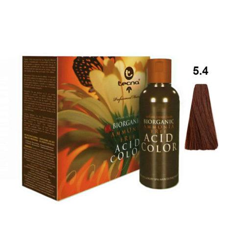 5.4 Castaño claro cobre Tecna NCC Biorganic acid color 3x130ml