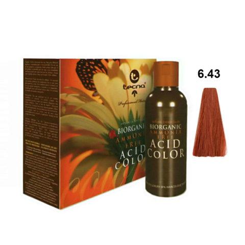 6.43 Rubio oscuro cobre dorado Tecna NCC Biorganic acid color 3x130ml