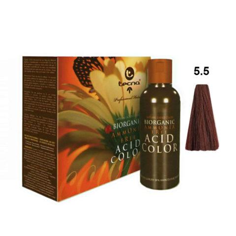 5.5 Castaño claro caoba Tecna NCC Biorganic acid color 3x130ml