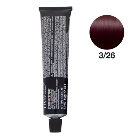 3/26 Dark violet red brown Tigi Creative 60ml