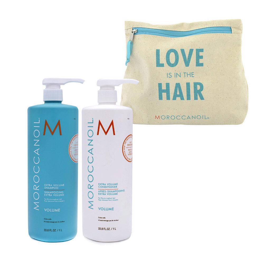 Moroccanoil Kit1 Extra volume shampoo 1000ml Extra volume conditioner 1000ml