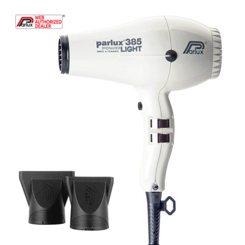 Parlux 385 Powerlight Ionic & Ceramic Bianco