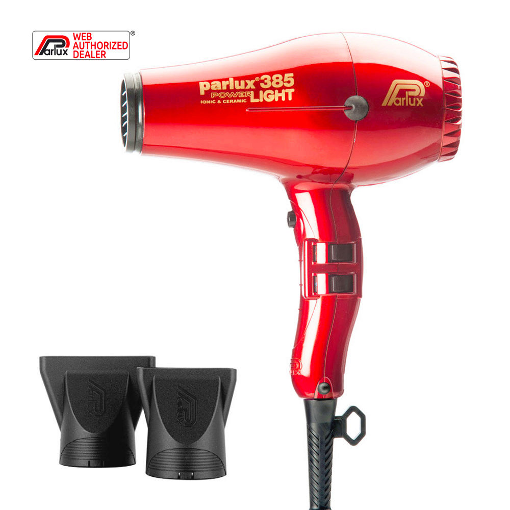 Parlux 385 Powerlight Ionic & Ceramic Rosso