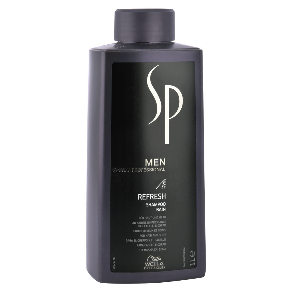 Wella SP Men Refresh Shampoo 1000ml - champù refrescante