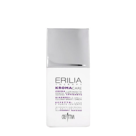 Erilia Kroma Care Crema Luminosità senza risciacquo azione levigante 150ml - Rayo suelto en crema para cabellos coloread