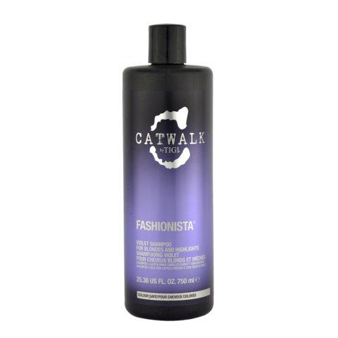 Tigi Catwalk Fashionista Violet shampoo 750ml - Champú Cabellos Rubio