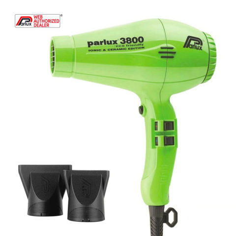 Parlux 3800 Eco Friendly Ionic & Ceramic Verde - secador