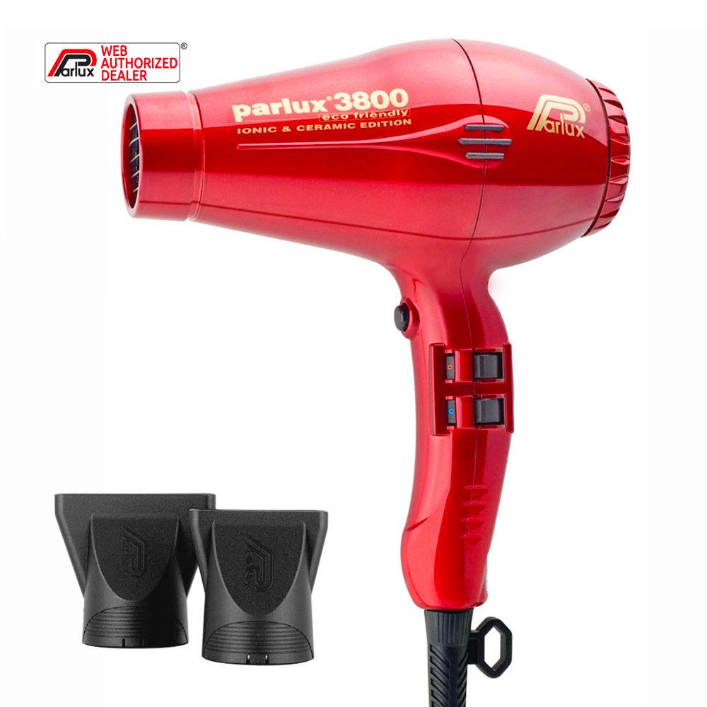 Parlux 3800 Eco Friendly Ionic & Ceramic Rojo - secador