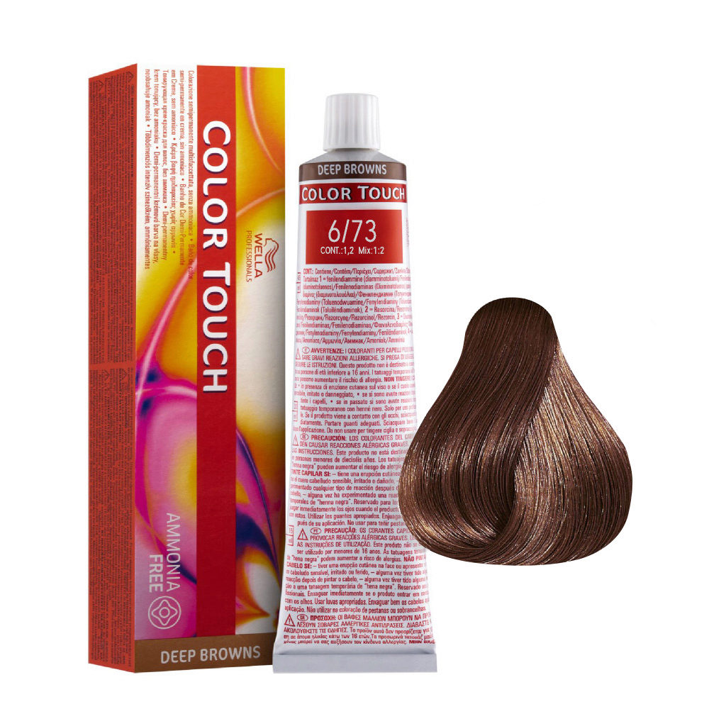 6/73 Rubio oscuro marron dorado Wella Color Touch Deep Browns sin amoníaco 60ml