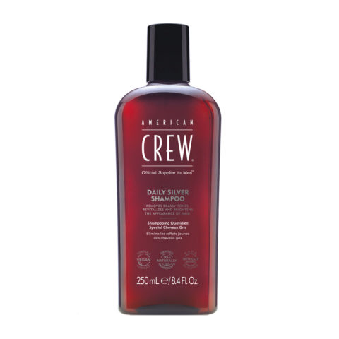 American crew Classic Grey shampoo 250ml - champù para mantener el pelo gris