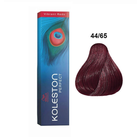 44/65 Castaño medio intensivo violeta caoba Wella Koleston perfect Vibrant reds 60ml