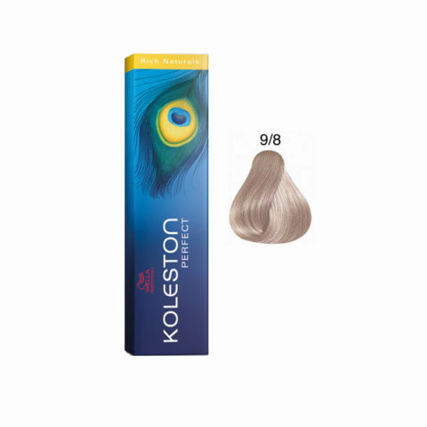 9/8 Rubio muy claro perla Wella Koleston Perfect Rich Naturals 60ml