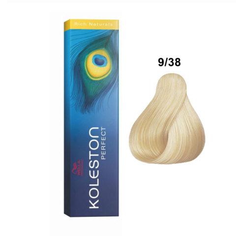 9/38 Rubio muy claro dorado perla Wella Koleston Perfect Rich Naturals 60ml