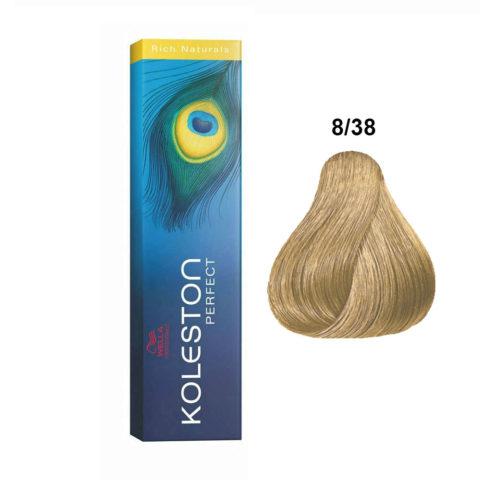 8/38 Rubio claro dorado perla Wella Koleston perfect Rich naturals 60ml