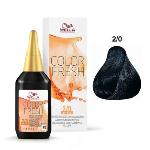 2/0 Negro Wella Color fresh 75ml