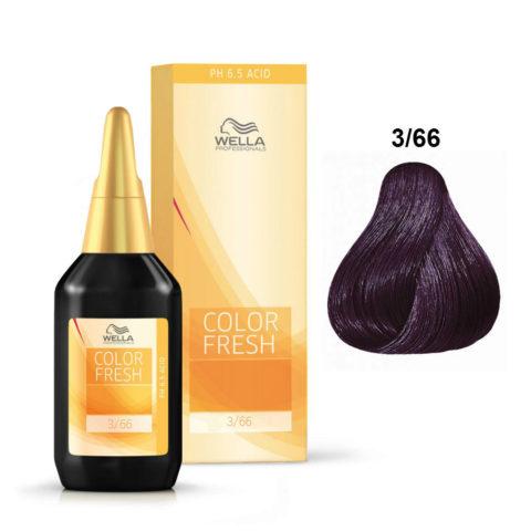 3/66 Castaño oscuro violeta intenso Wella Color fresh 75ml