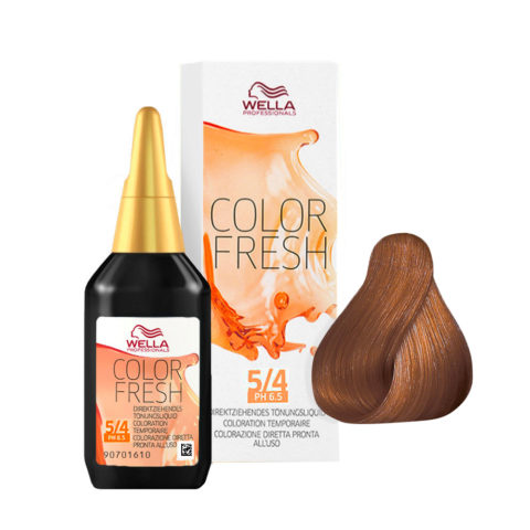 5/4 Castaño claro cobrizo Wella Color fresh 75ml