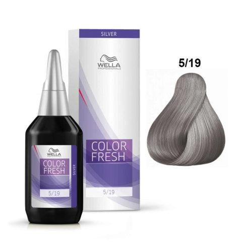 5/19 Castaño claro ceniza cendré Wella Color fresh 75ml