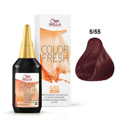 5/55 Castaño claro caoba intensa Wella Color fresh 75ml