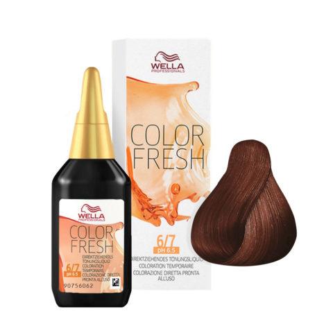 6/7 Rubio oscuro arena Wella Color fresh 75ml
