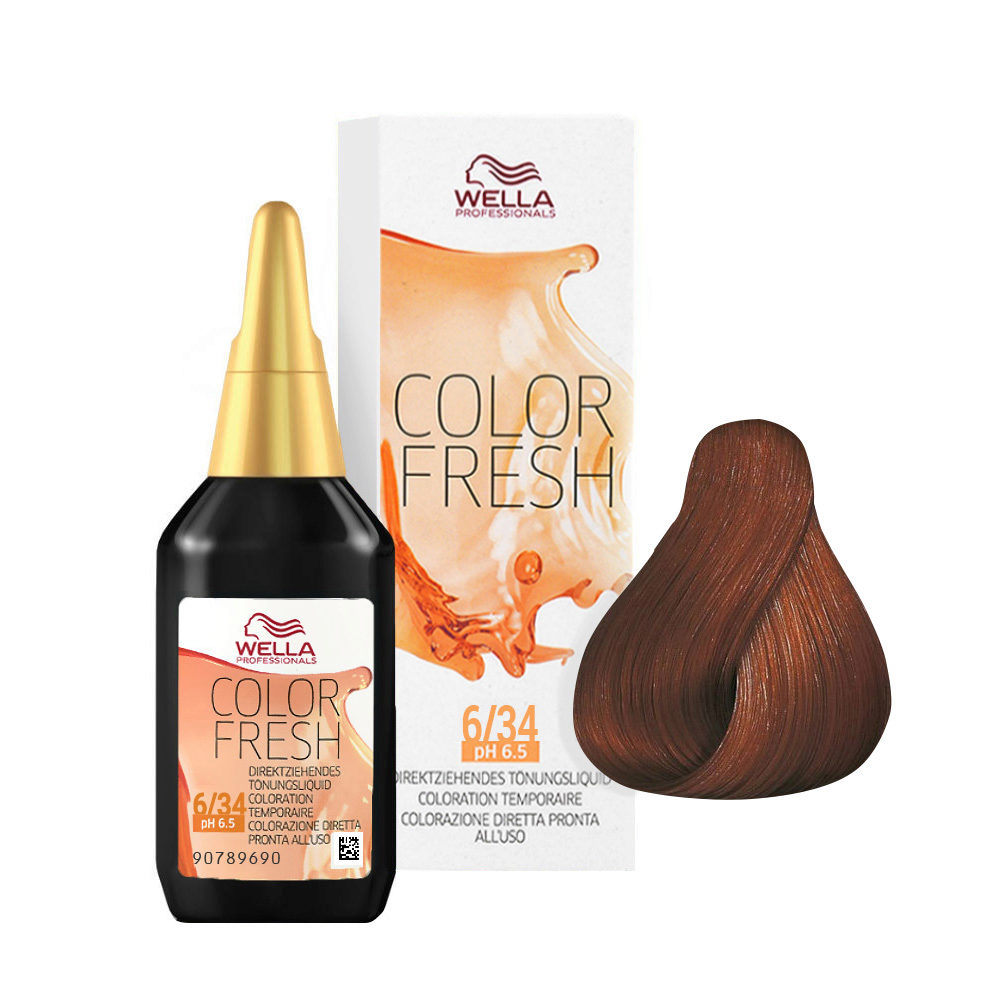 6/34 Rubio oscuro oro cobrizo Wella Color fresh 75ml