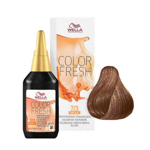 7/3 Rubio medio dDorado Wella Color fresh 75ml