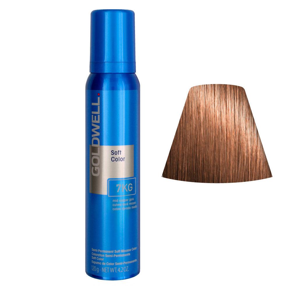 Goldwell Colorance soft color / Espuma colorante 7KG Mid Cobre dorado 125ml