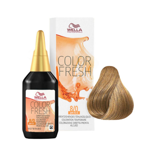 8/0 Rubio claro Wella Color fresh 75ml