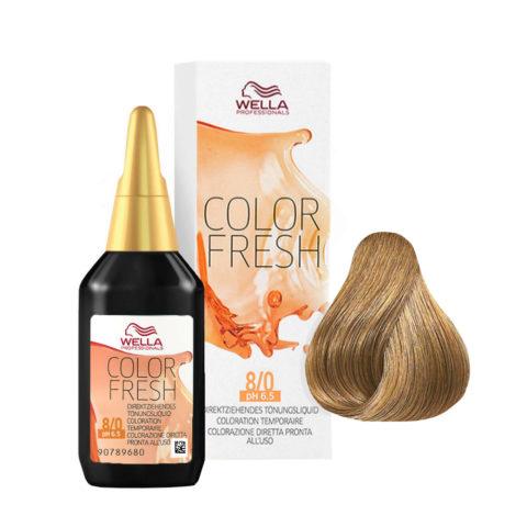 8/0 Rubio claro Wella Color fresh 75ml