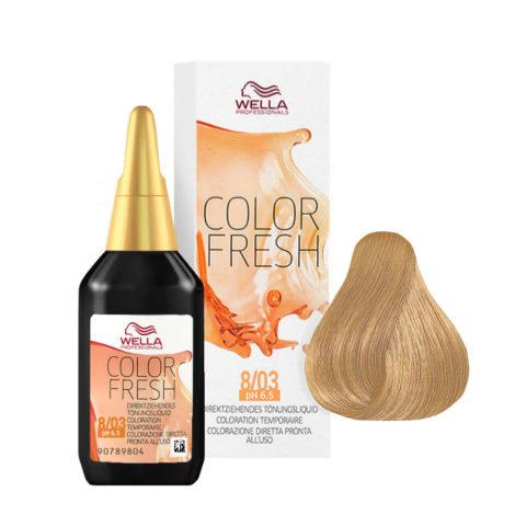 8/03 Rubio claro natural dorado Wella Color fresh 75ml