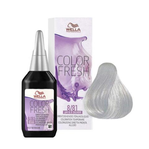 8/81 Rubio claro perla ceniza Wella Color fresh Silver 75ml