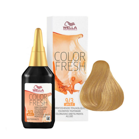 9/3 Rubio super claro dorado Wella Color fresh 75ml