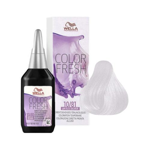 10/81 Rubio platino perla ceniza Wella Color fresh Silver 75ml