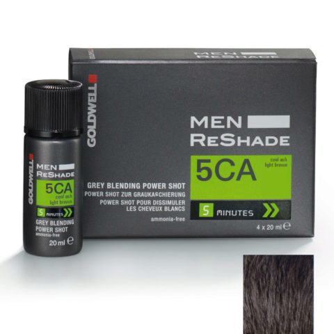 Goldwell Color men reshade 5CA CFM ceniza fría marrón claro 4x20ml