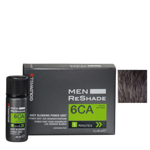Goldwell Color men reshade 6CA ceniza fría rubio oscuro CFM 4x20ml