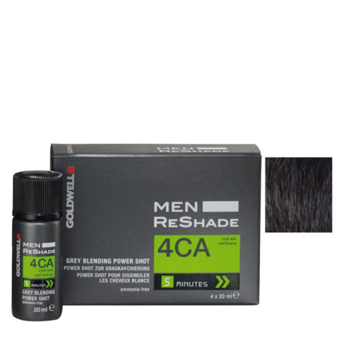 Goldwell Color men reshade 4CA mediados marrón ceniza fría 4x20ml
