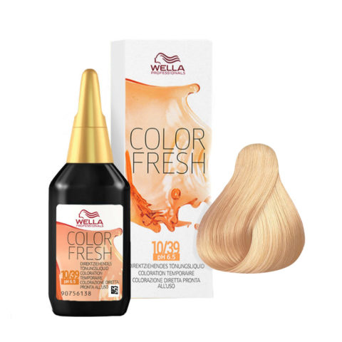 10/39 Rubio platino dorado cendré Wella Color fresh 75ml