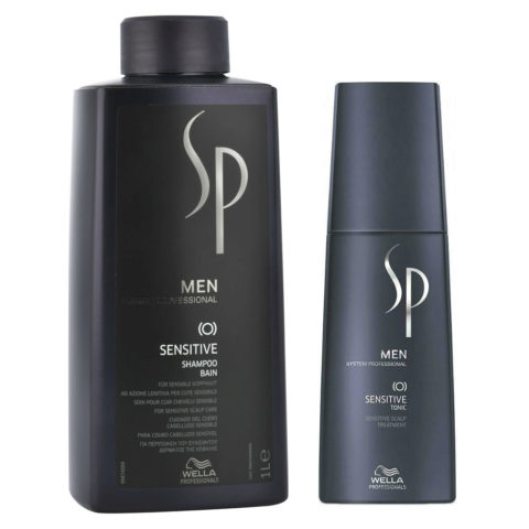 Wella SP Men Kit Sensitive Shampoo 1000ml  Sensitive Tonic 125ml