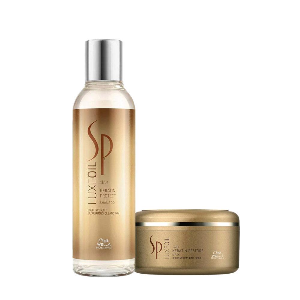 Wella SP Kit1 Luxe Oil Keratine protect shampoo 200ml   Keratin restore mask 150ml