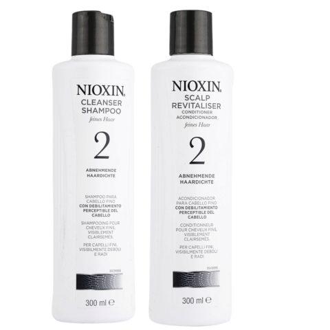 Nioxin Sistema2 Kit Shampoo Cleanser 300ml e Conditioner 300ml