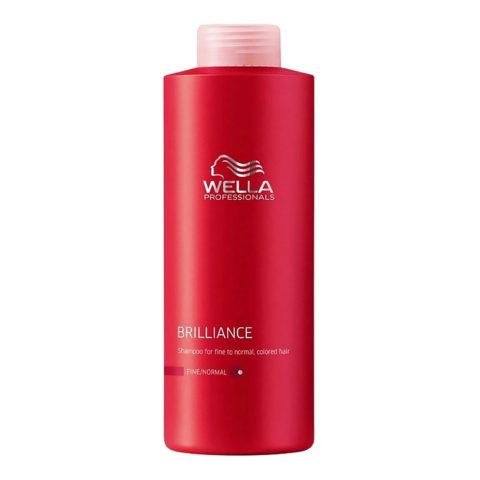 Wella Brilliance Shampoo 1000ml - champù cabello fino/normal