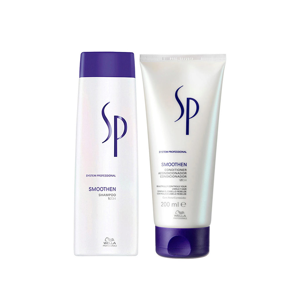 Wella System professional Kit Smoothen Shampoo 250ml  Conditioner 200ml