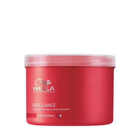 Wella Brilliance Mask 500ml - mascarilla cabello fino/normal