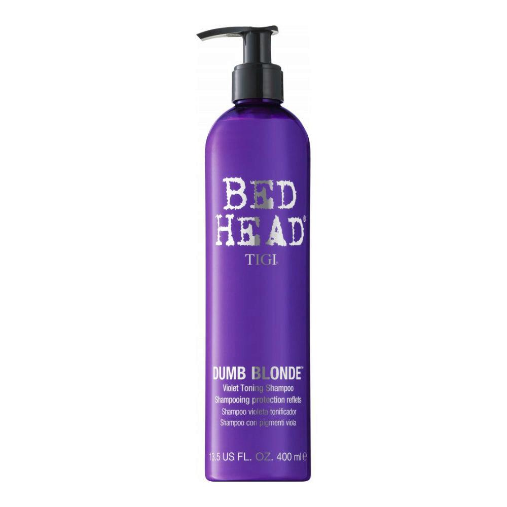 Tigi Bed Head Dumb Blonde Violet Toning Shampoo 400ml - champù rubios/gris