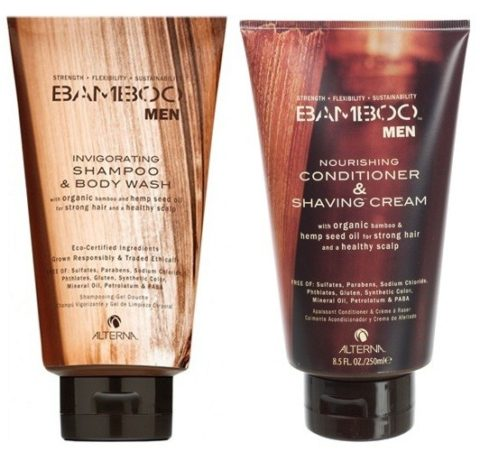 Alterna Kit Bamboo Men shampoo & body wash 250 ml   Men conditioner & shaving cream 250 ml