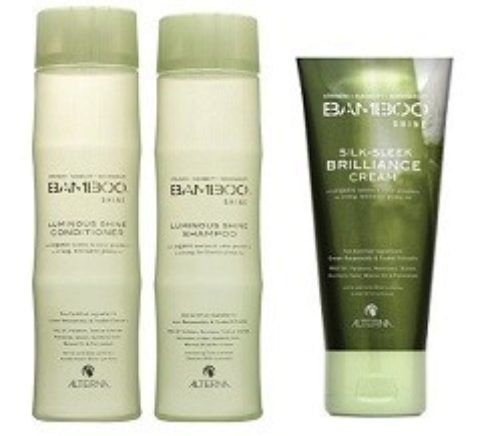 Alterna Bamboo Shine Kit2 Shampoo 250ml Conditioner 250ml Silk sleek brilliance cream 125ml