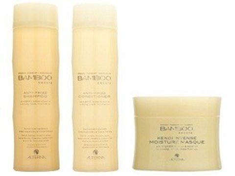 Alterna Bamboo Smooth Kit2 Shampoo 250ml Conditioner 250ml Kendi intense moisture masque 145gr